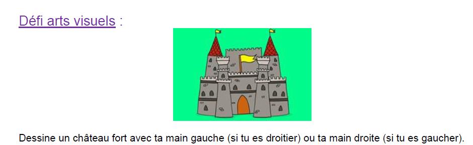 Défi artistique : le château fort